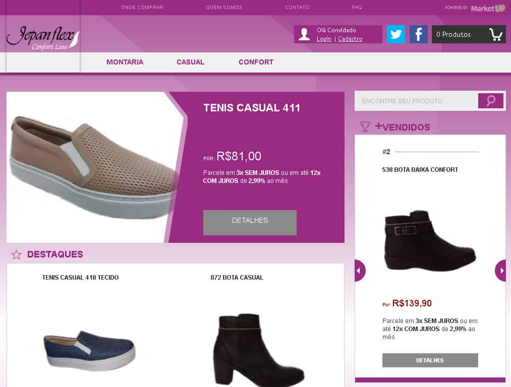 Loja Virtual Marketup Exemplo - Jepan
