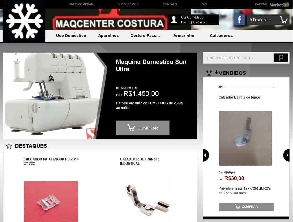 Loja Virtual Marketup Exemplo - Maqcenter